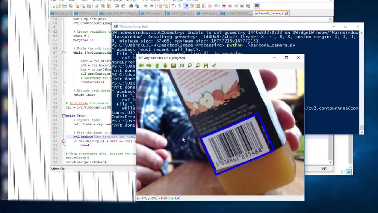 OpenCV Python Find Barcode Test 1