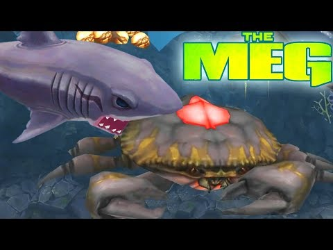 THE MEG (Megalodon) VS GIANT CRAB BOSS  || Hungry Shark Evolution [FHD-1080p]