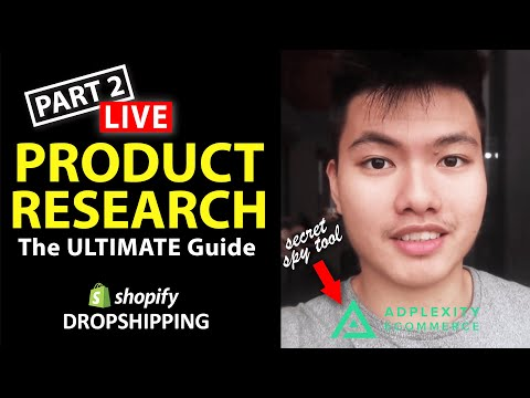 Shopify Dropshipping Product Research LIVE Part 2! (Finding $100,000++ Products) thumbnail
