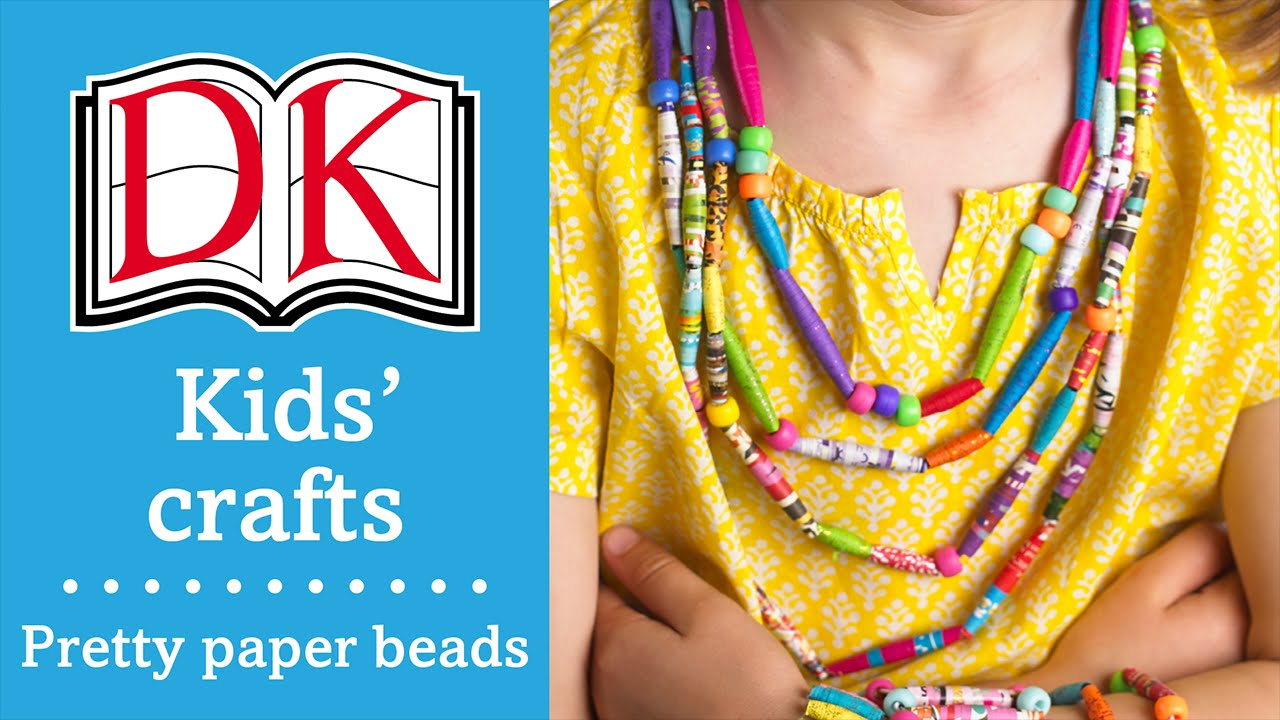 Craft Ideas For Kids Paper Beads Youtube