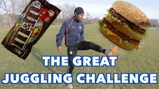JUGGLING random stuff - THE BIG MAC vs. WHOPPER CHALLENGE