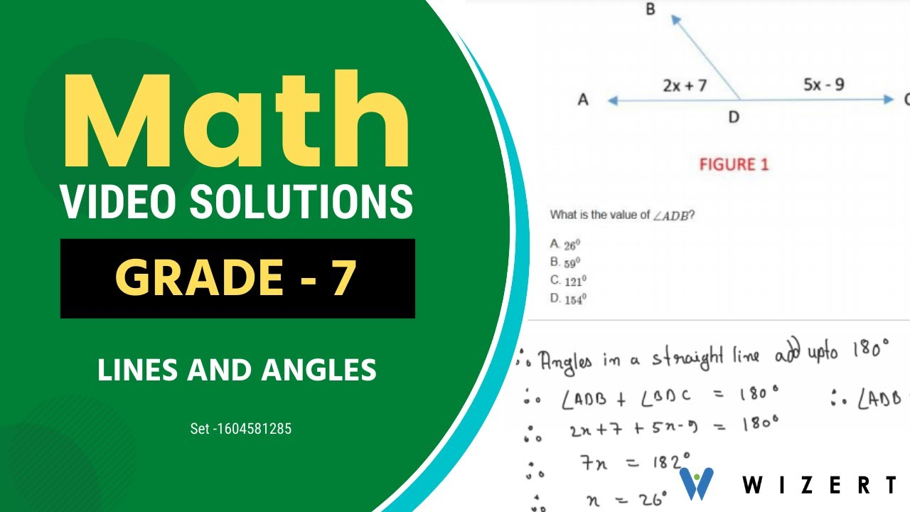 Grade 7 Mathematics Worksheets - Lines And Angles worksheet pdfs for Grade 7  - Set 1604581285 - YouTube [ 720 x 1280 Pixel ]
