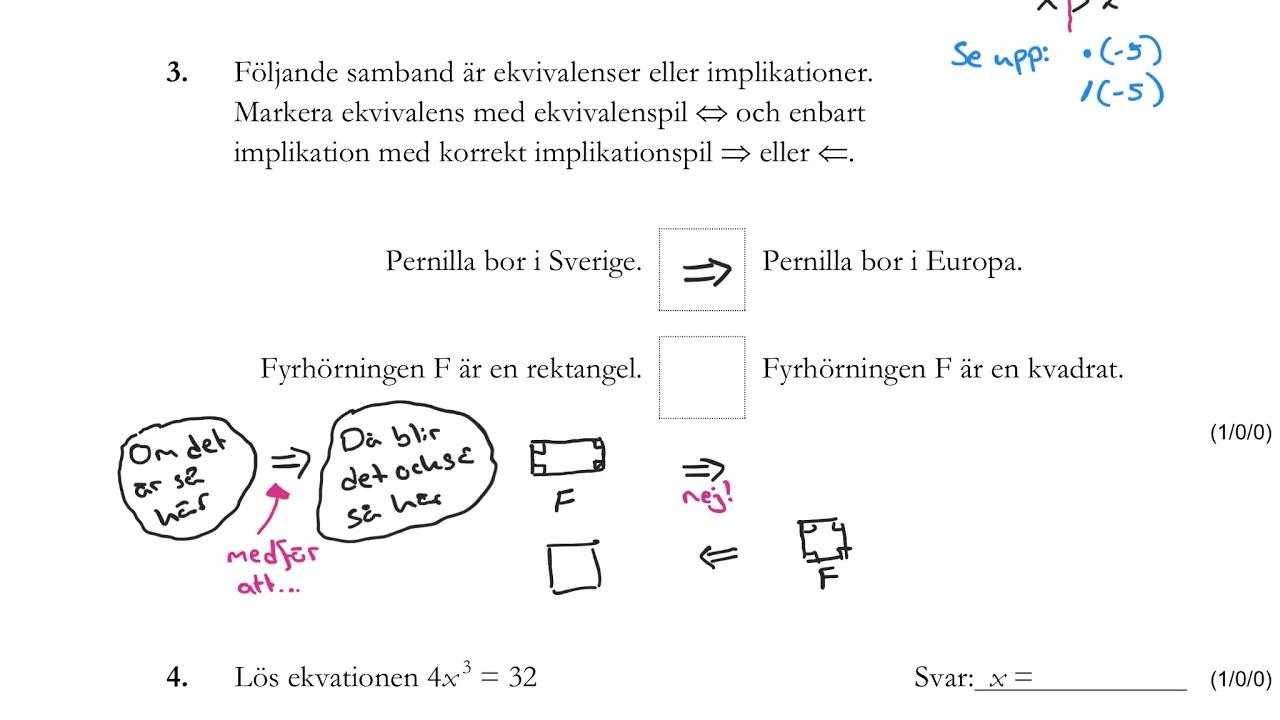 Matematik 1c. Nationellt prov HT 2016, del B. Lösningar.
