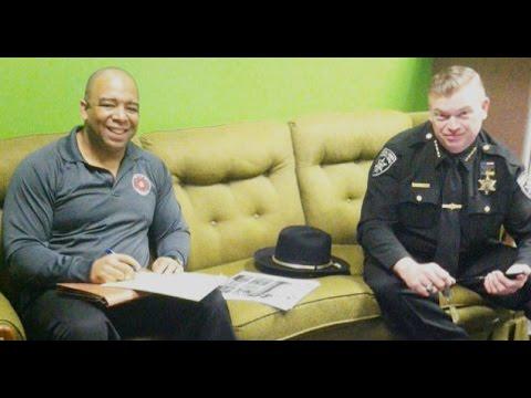 Sheriff Rob Maciol and Troy Little on Pre Employment Police Training Program at MVCC