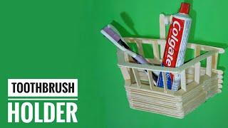 Best Out Of Waste Icecream Stick Craft Idea | DIY Craft Project | Toothbrush Holder | Basic Craft