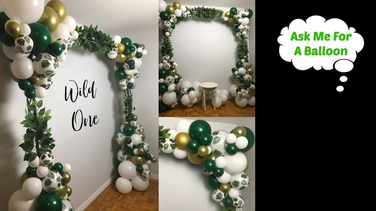 Organic Square Balloon Arch With Greenery Youtube