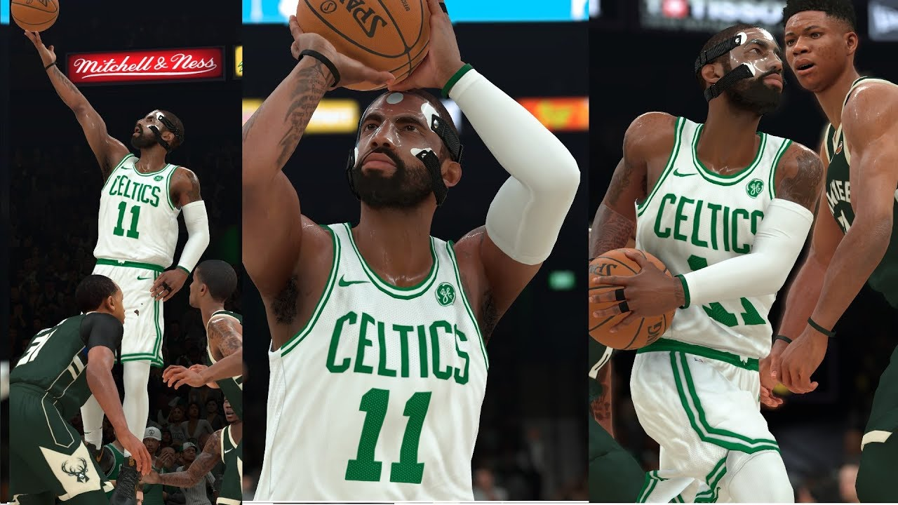 new style d6bc5 beaa6 NBA 2K18 Masked Kyrie Irving UNCLE DREW! Highlights vs Bucks 2017.12.05 -  CLUTCH!