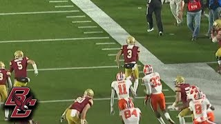 Boston College Gets Electric Punt Return TD From Michael Walker