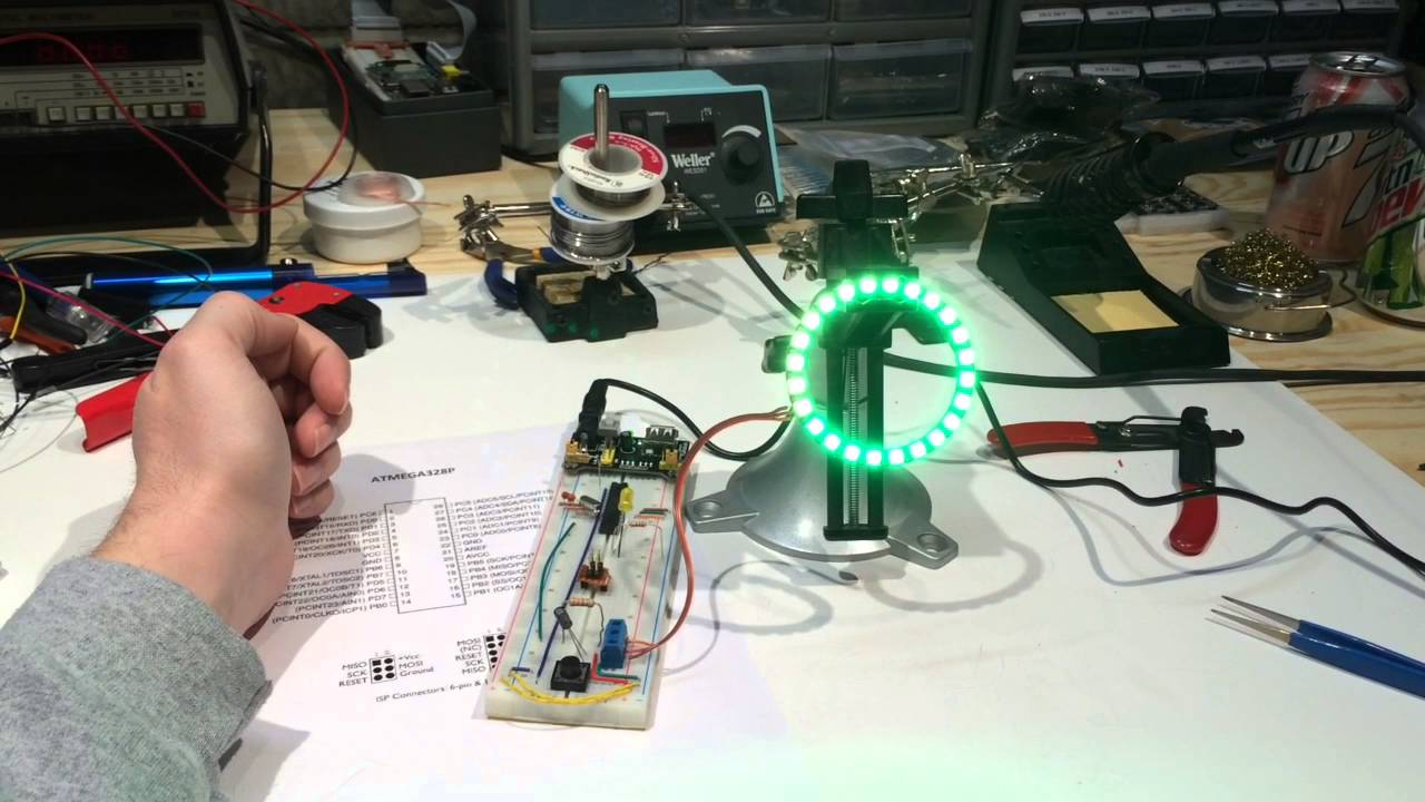 WS2812 LED (NeoPixel) Ring & Breadboard Arduino