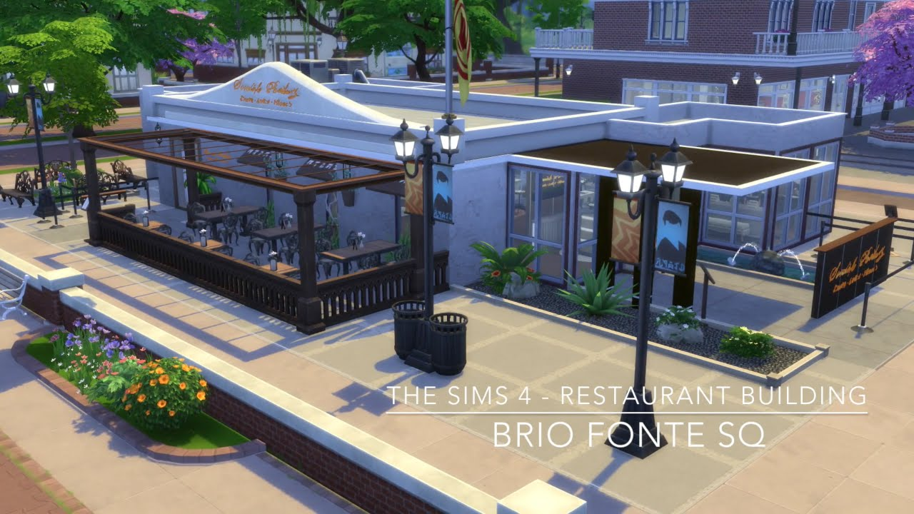 The sims restaurant building brio fonte sq youtube