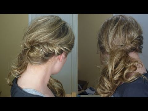 Loose Side Swept Curly Hair YouTube
