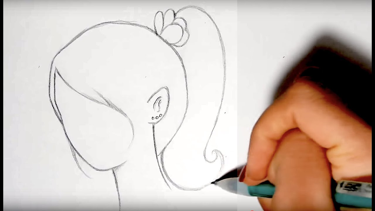 draw cute hairstyles part