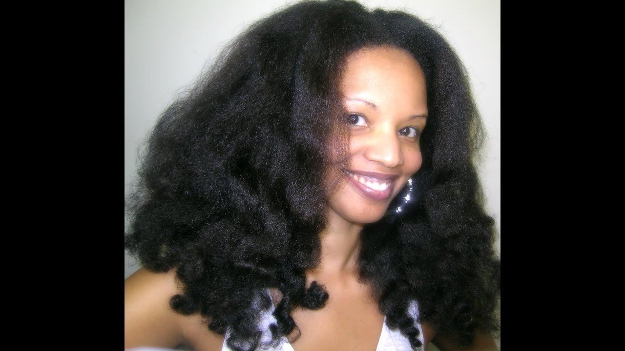 Natural Hair Blowout Styles : Band, Twists and Curl  YouTube