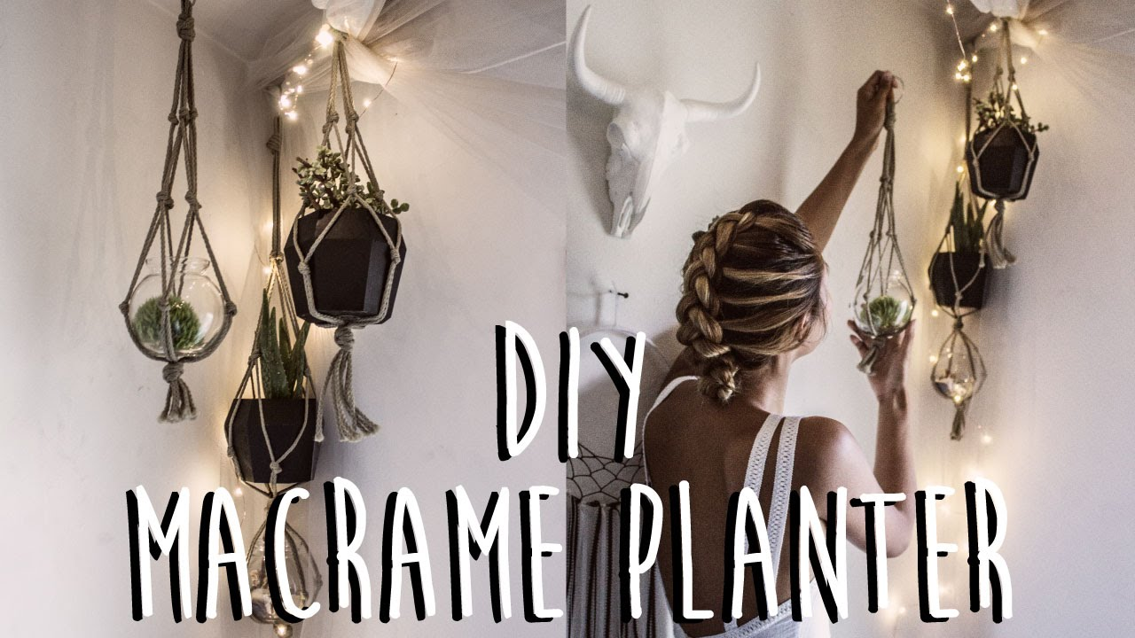 Diy How To Make A Macrame Plant Hanger Youtube