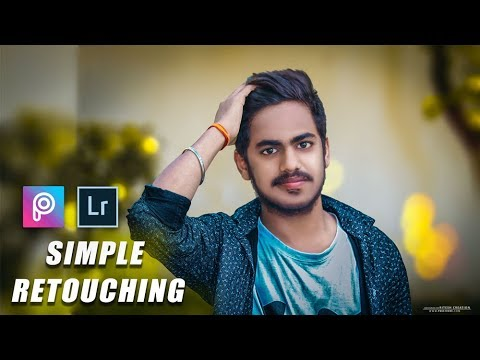 PicsArt and Lightroom Simple Retouching Editing || Adobe