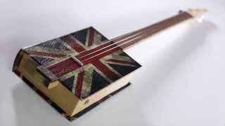 G-ray Cigar Box Guitar -  Union Jack Design - Www.cigarboxguitarshop.com