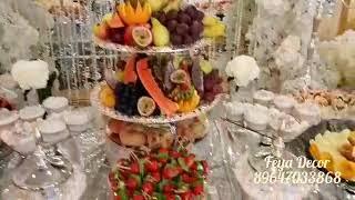 Красивый,свадебный фуршет в Москве. Банкетный зал ,,Наполеон''