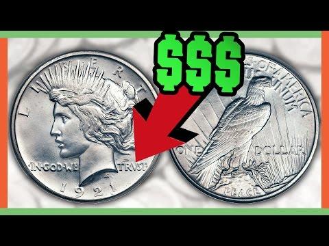 RARE SILVER DOLLAR COINS WORTH MONEY - PEACE DOLLAR VALUES!!