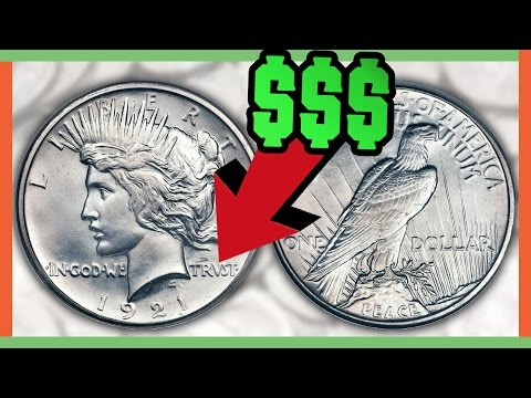 RARE SILVER DOLLAR COINS WORTH MONEY - PEACE DOLLAR VALUES!!