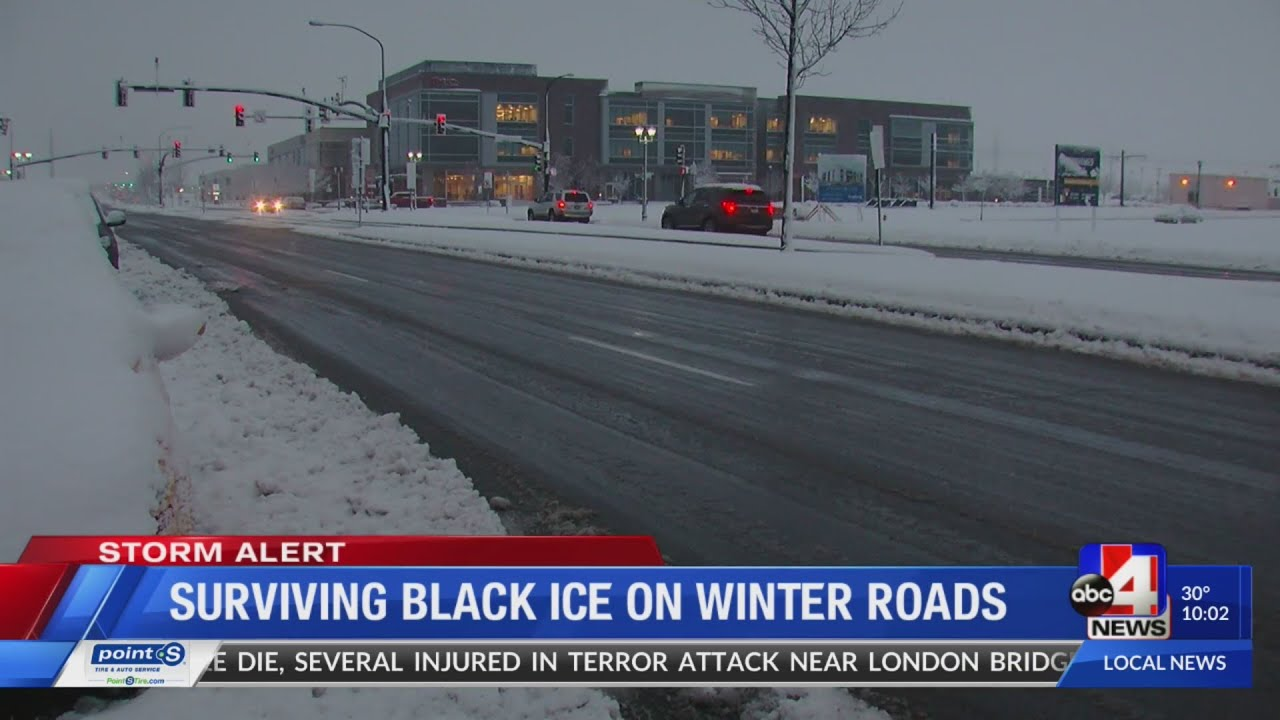 How to drive safely with black ice on the roads