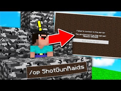 STEALING OWNER RANK AND BANNING THE OWNER!! (Minecraft TROLLING) *HE RAGED*