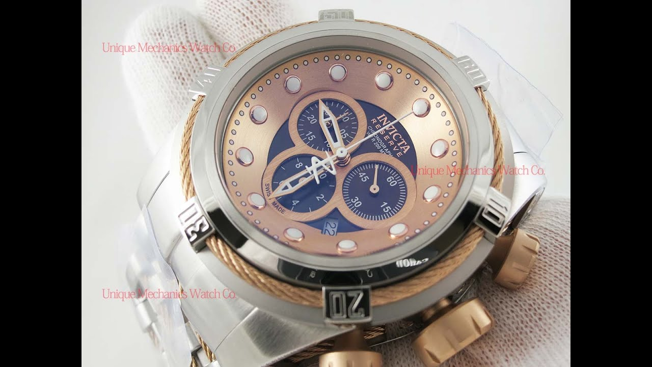 8bda9ca4c37 Invicta 0823 Bolt Reserve Rose Gold Dial Men s Stainless Steel Watch ...