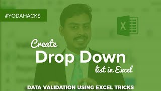 Create Drop Down List in Excel | Data Validation using Excel Tricks