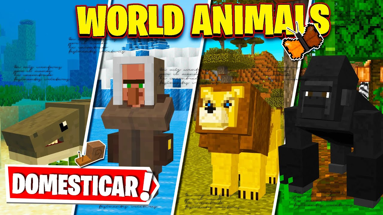 ? WORLD ANIMALS para MINECRAFT PE   [ GUIA COMPLETA ]  ► +60 ANIMALES !!