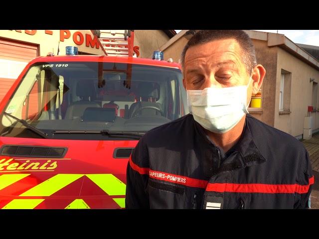 Nouveau chef et nouveau véhicule pour les pompiers amnévillois
