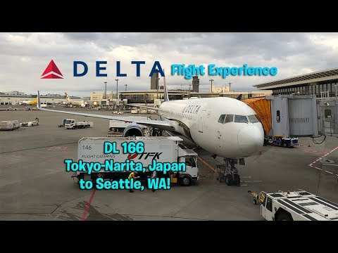 Delta Airlines DL 166 Tokyo-Narita to Seattle, WA Main Cabin Flight Experience (December 1st, 2017)