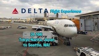 Delta Airlines DL 166 Tokyo-Narita to Seattle, WA Main Cabin Flight Experience (December 1st, 2017)