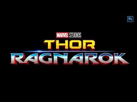 Thor: Ragnarok-Hulk Poster Logo Style - Photoshop Tutorial
