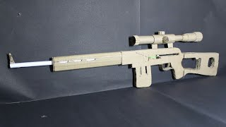 How To Make A Dragunov Svd That Shoots - With Magazine - (cardboard Gun)