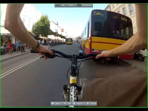Awesome and fast biking journey in Warsaw (capital city of Poland) HD 1080