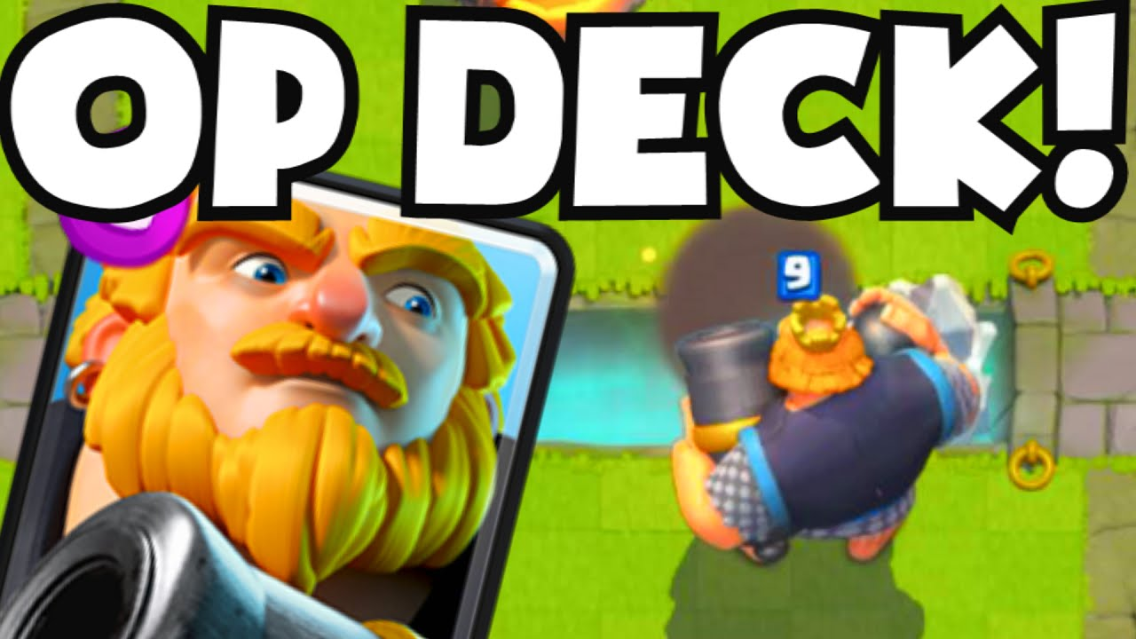 Clash Royale Royal Giant Deck Op Best Card In The Game