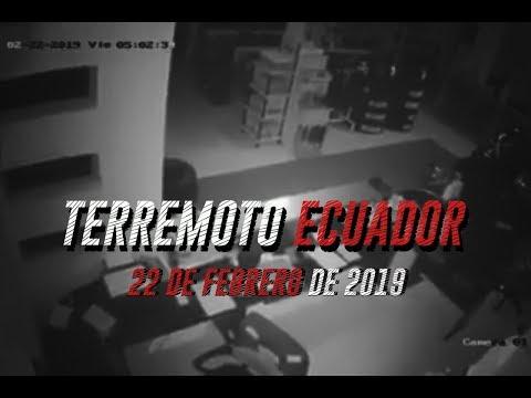 PRIMERAS IMÁGENES DEL SISMO 7,5 EN ECUADOR HOY 22 DE FEBRERO DE 2019