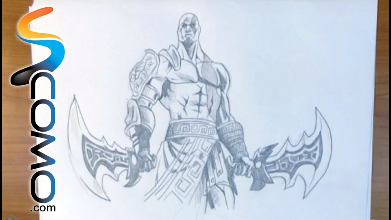 Dibujar A Kratos De God Of War