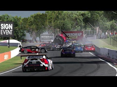 iRacing Global Challenge Mount Panorama Circuit Crashes
