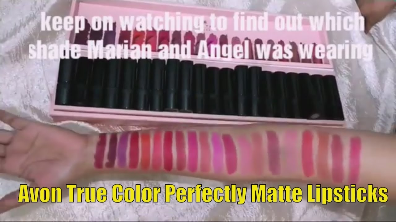 New Avon True Color Perfectly Matte Lipsticks Lip Swatches And