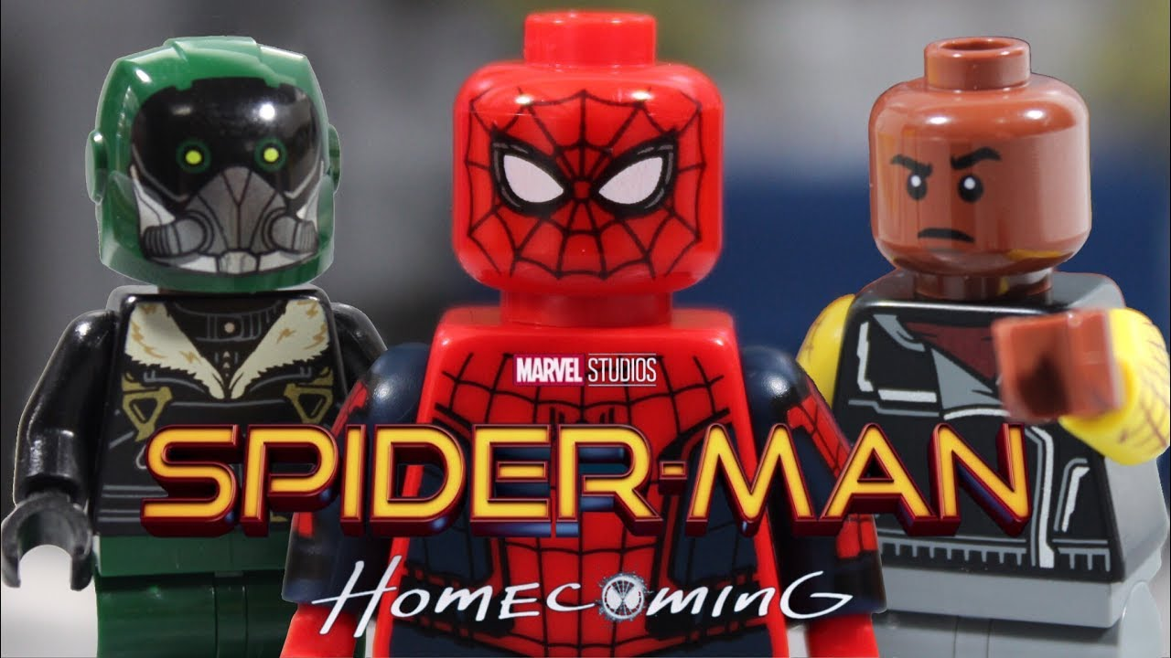lego spider man homecoming spider man vs the vulture youtube