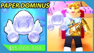 Buying The Paper Dominus In Roblox Paper Ball Simulator