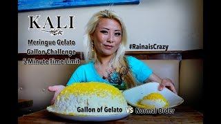 Gallon of Gelato Eating Challenge | Can I finish in 5 Minutes?! | Kali Resturant | RainaisCrazy