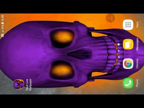 Free Video Live Wallpaper. skull animated wallpaper features Amazing video animated wallpaper to personalise your phone. The live wallpaper personalisation ...