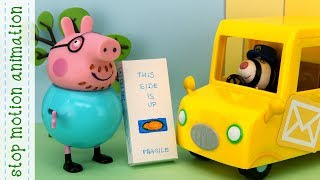 The Toy Cupboard Peppa Pig TV toys stop motion animation in english