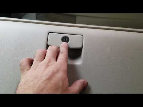 HOW TO REPLACE ANY SUBARU GLOVE BOX KEY LOCK CYLINDER
