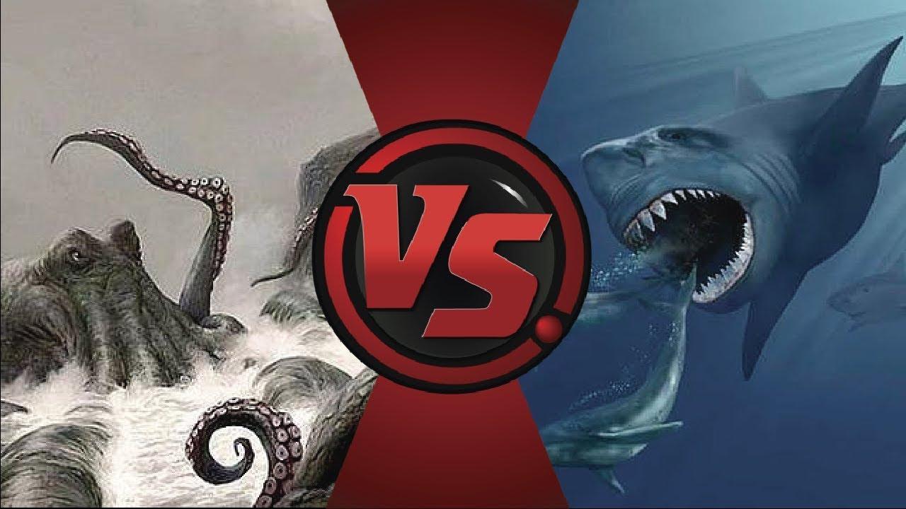 Kraken Vs Megalodón Quién Ganaría