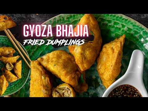GYOZA BHAJIA - VEGAN FRIED DUMPLINGS | Sanjana.Feasts