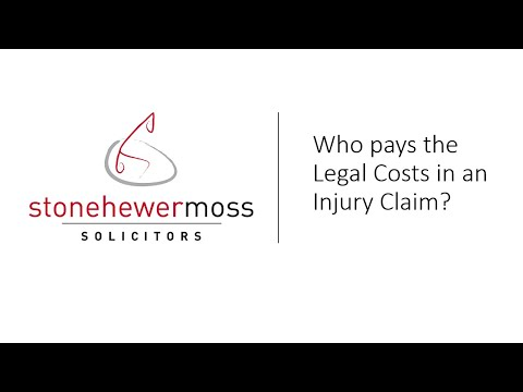 Who pays the Legal Costs in an Injury Claim?