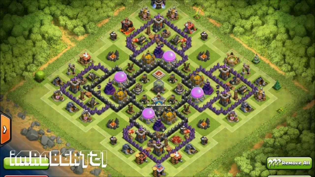 Clash of clans town hall 9 farming base sneaky dee youtube