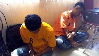 Nunggu Konfrensi Pers, Dua Pencuri Ini Malah Asyik Tidur